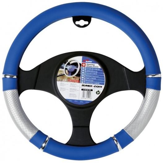 Funda Volante PVC Azul Plata