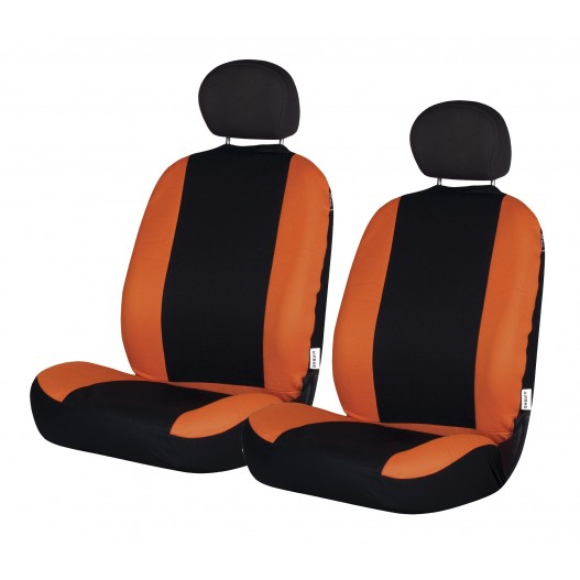 Funda textil para asientos delanteros Road negra - naranja