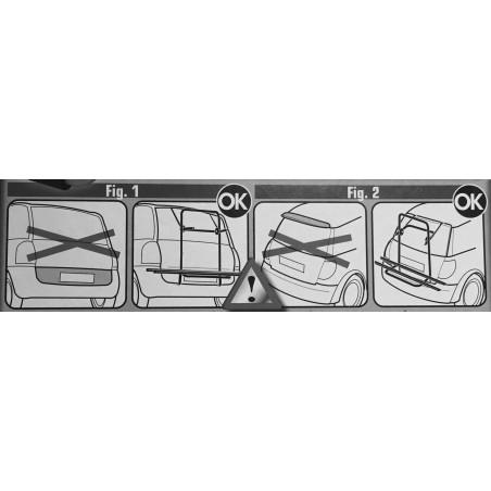 Portabicicletas trasero acero Steel Bike Menabo