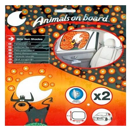 Parasol lateral rectangular Animals on board