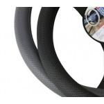Funda de volante negra perforada Luxe