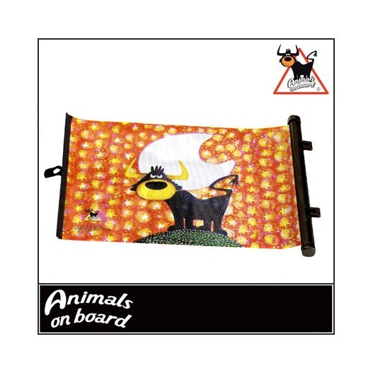 "Cortinilla Lateral ""Animals On Board"" 49X36Cm.Toro"
