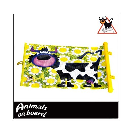 "Cortinilla Lateral ""Animals On Board"" 49X36Cm.Vaca"