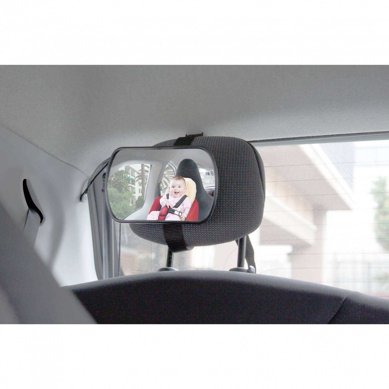 Espejo retrovisor beb con adaptador para reposacabezas y for Espejo para mirar bebe auto