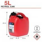 Bidón gasolina 5 Litros medidas