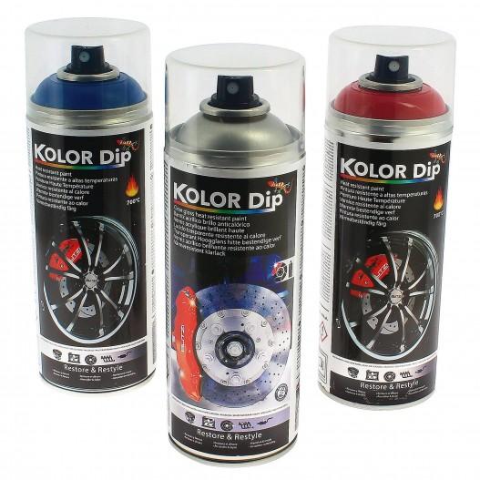 Kolor Dip Anticalórica pintura pinzas de freno en varios colores. Resistente hasta 700ºC