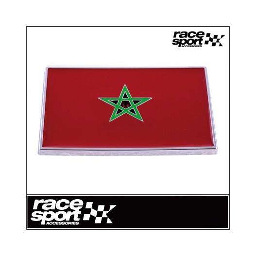 """Emblema """"Marruecos"""" Cromado 71X46 Mm"""