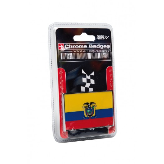 "Emblema ""Ecuador"" Cromado 71X46 Mm"