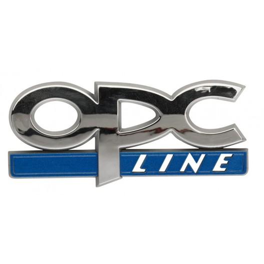 "Emblema cromado marca ""OPC "" 80x30mm"
