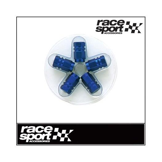 Tapones Válvula Aluminio Hexagonal. Azul