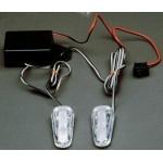 """Luz Flash """"Pace Car 2"""" 12V.Transparente"""