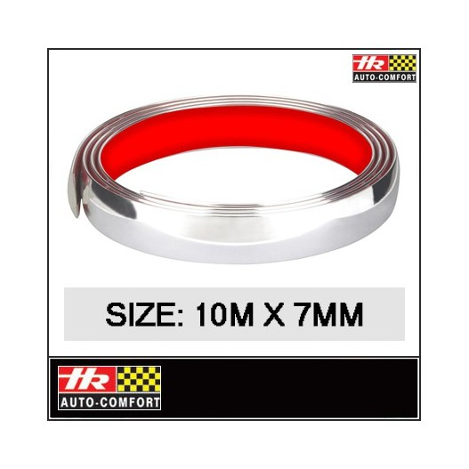 "Cinta Cromada Decorativa ""Hr"" 10 M. X 7 Mm"
