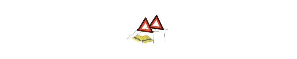 Chalecos triángulos y botiquín